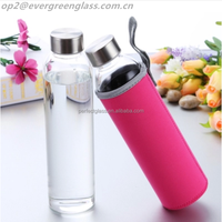 Mineral water bottle for beverage with stainless steel lid