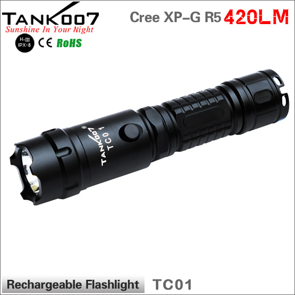 IP68 Waterproof rechargeable super bright flashlight 1000lumens defence <strong>equipment</strong> TANK007 TC01