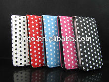 Polka Dot Leather Flip Case Cover Pouch For iPhone 5 5G
