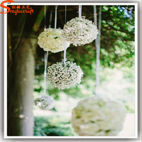 Artificial Silk Flower Gorgeous Balls Handmade For Wedding Stage Hanging Decorations