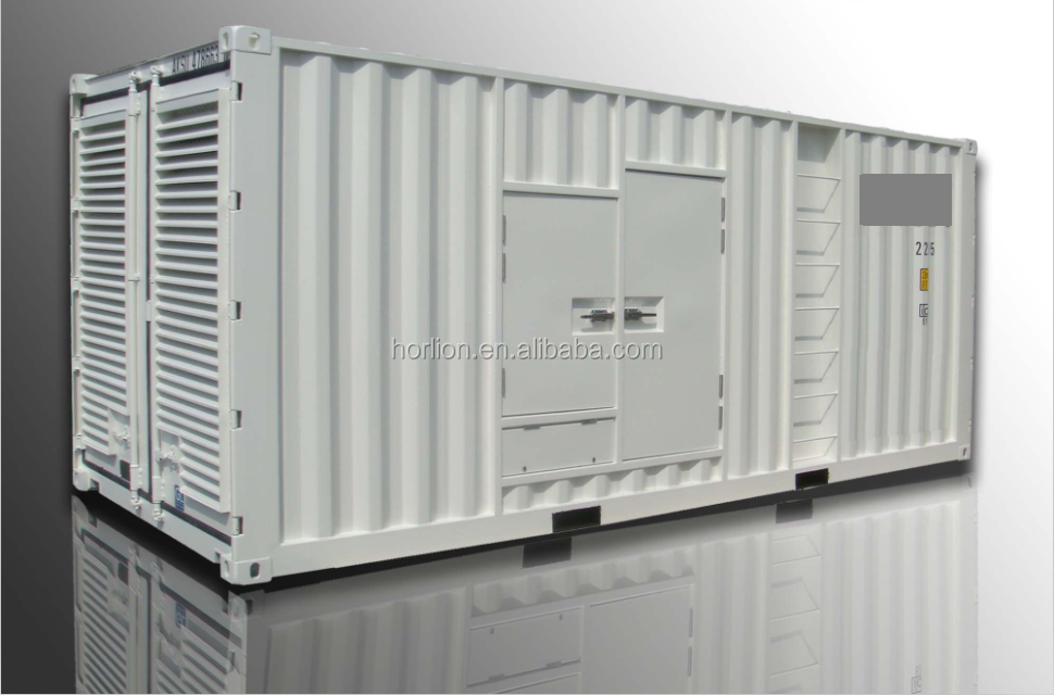 600kw low noise generator set 750 kva soundproof power plant 750kva container silent type generator