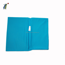 A4 size elastic blue solid fabric book cover