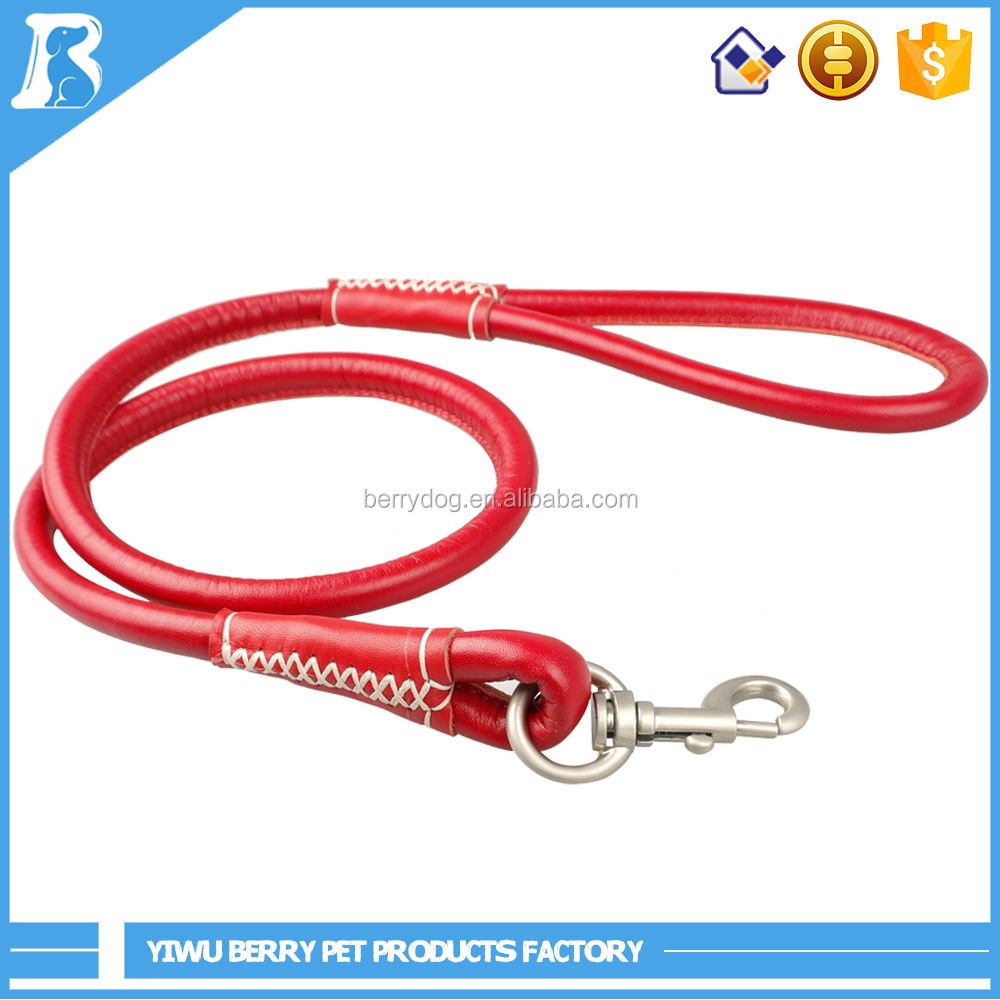 6 Colors S M L Heavy Duty Rolled Round Soft dog show leads