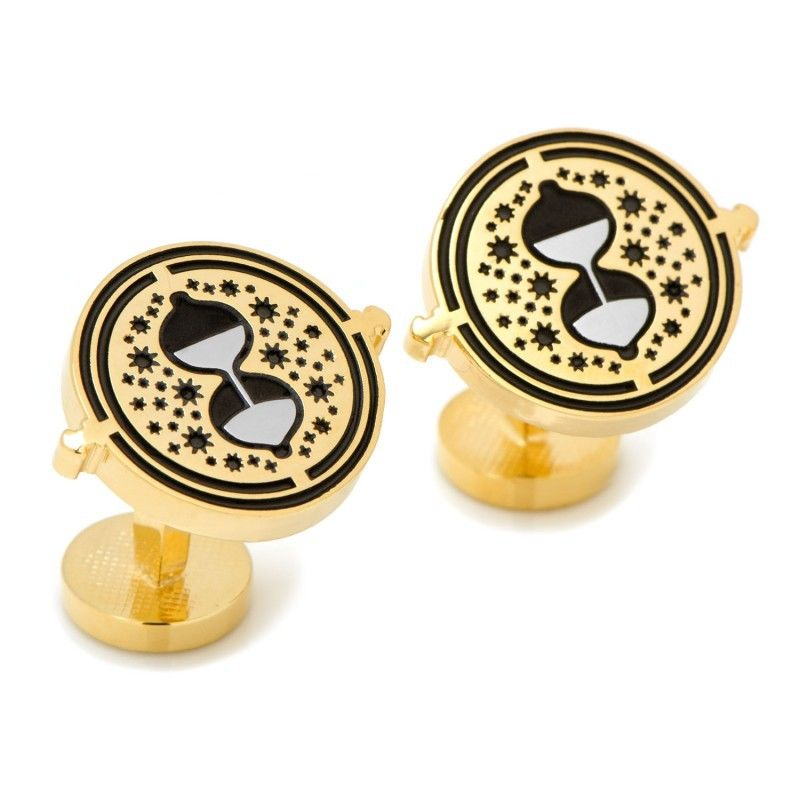 HP Harry Golden Back in Time Turner Cufflinks