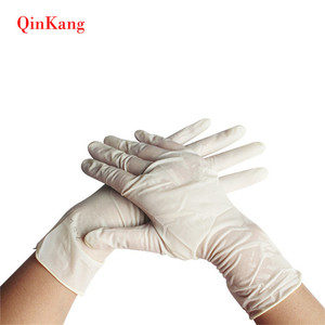 Natural Hand surgical latex exam gloves hospital disposable latex glove