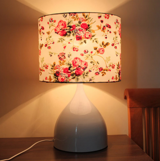 cloth rural style flower table LED lamp wedding gift