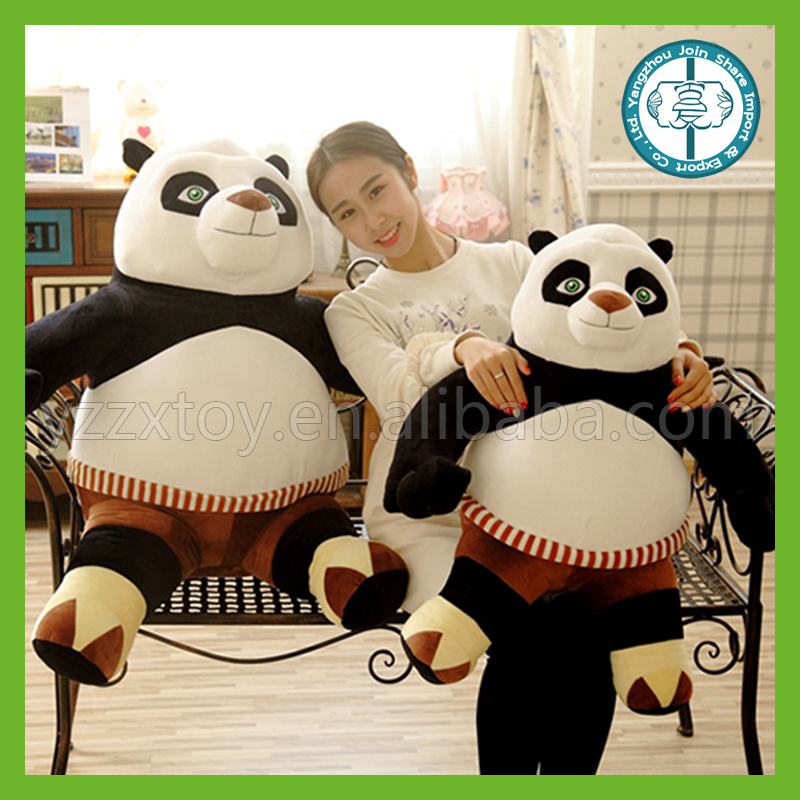 Hot sale movie character lovely big kung fu panda toys for children