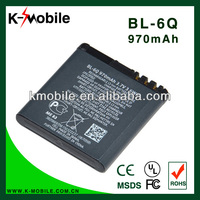 Rechargeable cell phoe battery BL-6Q battery for Nokia 6700 6700C