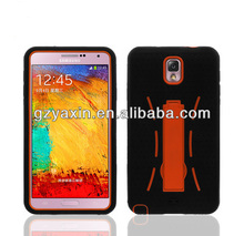 Heavy duty case for samsung galaxy note 3,shockproof silicone case for samsung galaxy note 3