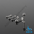 Magnetic lip piercing stainless steel labret stud bars with ball