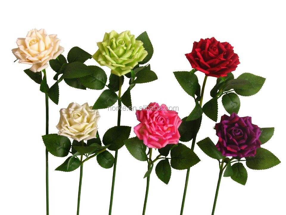 top quality artificial silk rose flowers