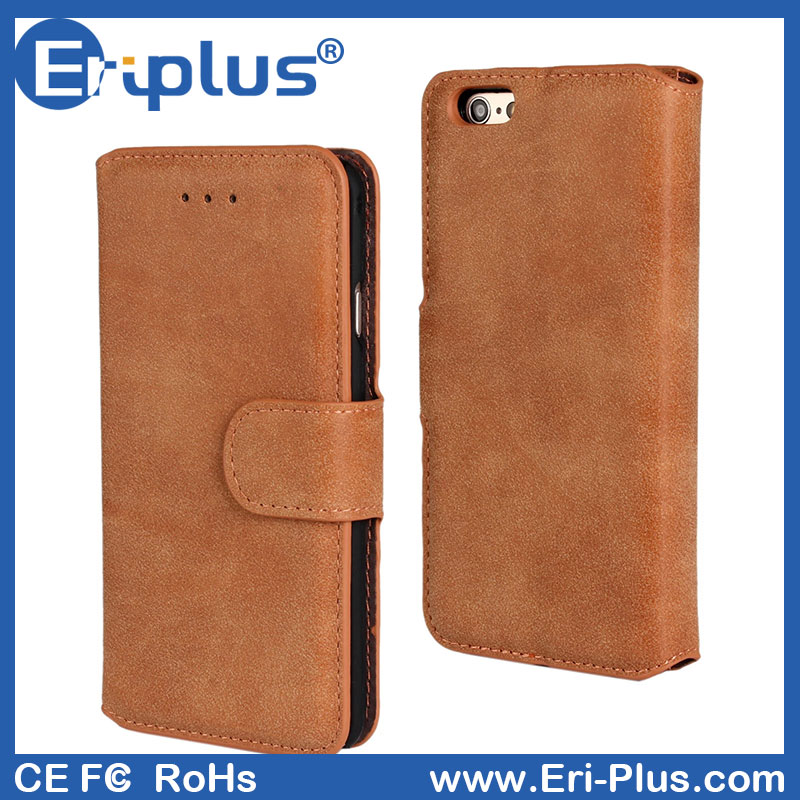 Eri-plus Wallet Two Mobile Phones Leather Case For Iphone