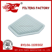 Auto Filter / car air filter for BYD OEM BYDS6-1109302 with best price