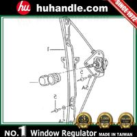 for Volkswagen Fox window regulator (Manual) OEM:5Z3837501
