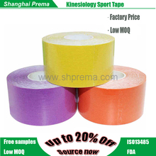 High Quality Sport Protection Colored Adhesive Bandage Buff Kinesiology Adherent Bandage Muscle Kinesiology Tape .
