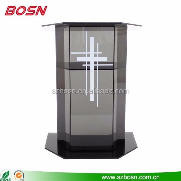 High quality modern acrylic church podium pulpit designs plexiglass
