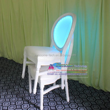 led lighted stackable ghost chair, glow stacking ghost chair
