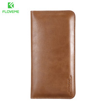 FLOVEME Wallet Magnetic Leather Case FLOVEME Brand Cell Phone Leather Pouch,Universal Wallet Phone Case