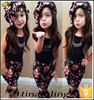 new brand girls floral clothing sets children fashion boutique clothes kids clothes 2015