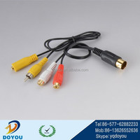 custom electrical OEM rca to firewire cable