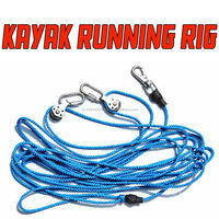 Sea Kayak fishing running rigs with 9m marine cord and stainless steel rigs