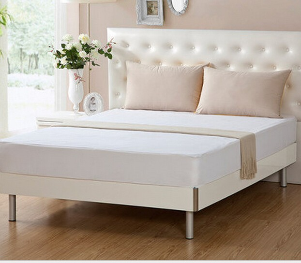 cheap solid plain color fitted bed sheet