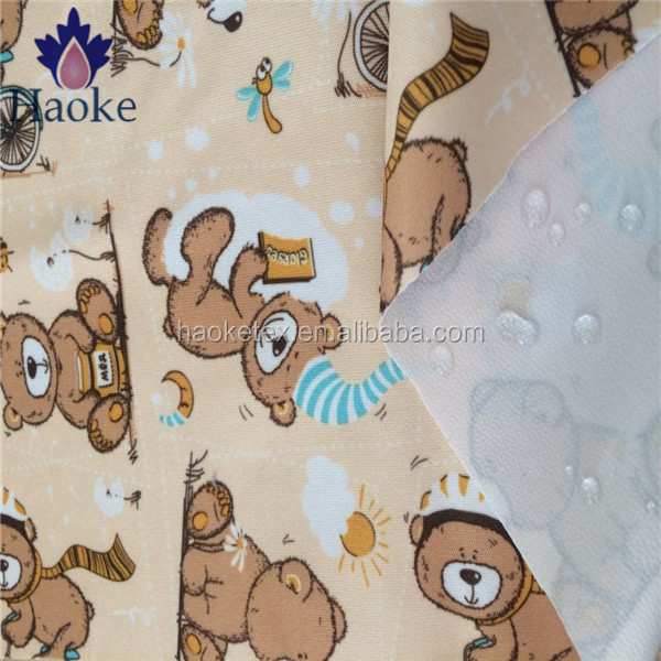 breathable stretch fabric / microfiber breathable waterproof fabric / TPU laminated customize printing knitted interlock fabric