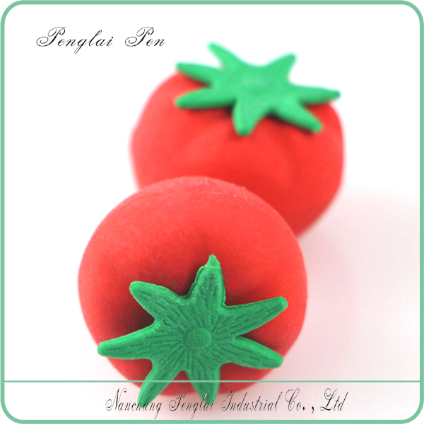 2017 Fruit Set Toy Puzzle Fancy Tomato Shaped Eraser