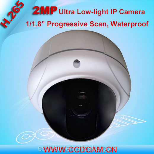 2MP P2P Sony IMX185 H.265 IP Camera Outdoor Ultra Star light Color Vandalproof Dome Night Vision Dome CCTV Camera with Sound