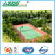 Outdoor good cushion performance silicon PU badminton court rubber flooring rubber mat surface
