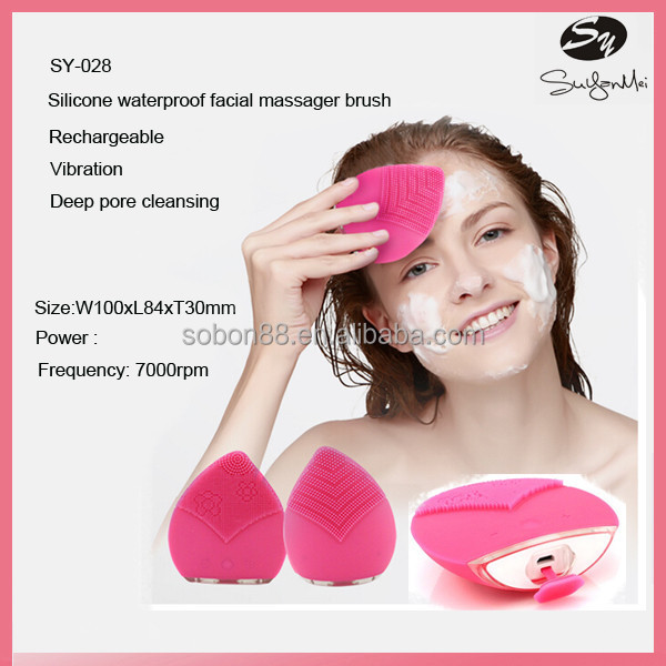 Best facial massager girl silicone facial cleansing brush / makeup tools cosmetic cleanser brush