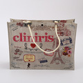 Personalized Jute pattern laminated shopping non woven bag