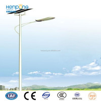 energy saving solar garden lighting with garden lighting pole with single arm bracket of hot dip galvanized steel pole