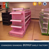 New design portable exhibition retail cosmetic display shelf for large scale exhibition