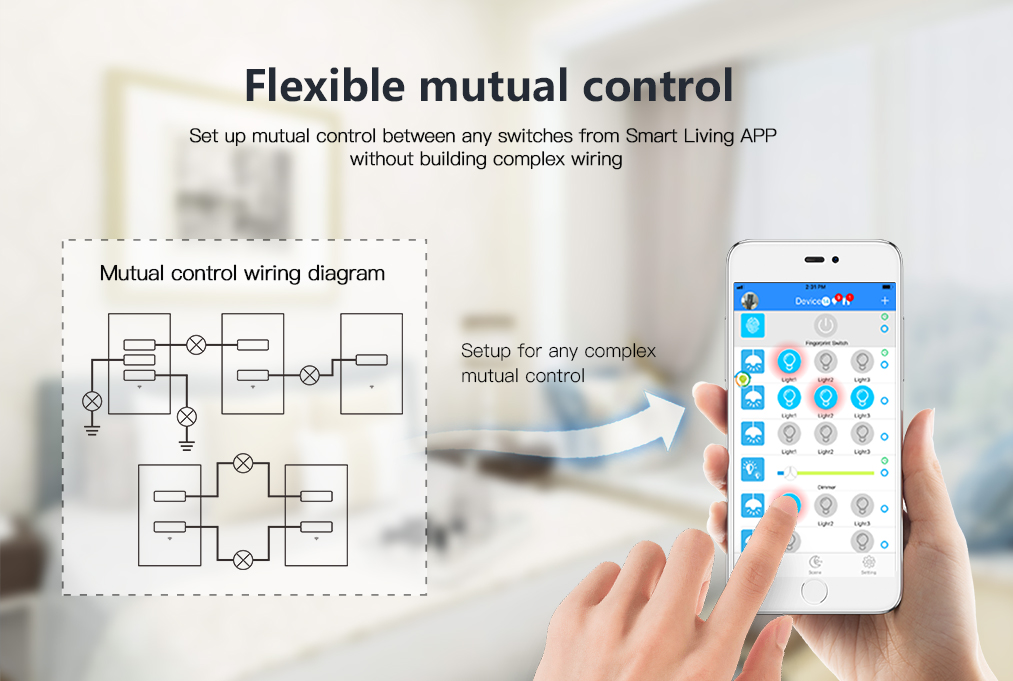 UK Standard Light Smart Switch 3 Gang 3 Way timing function compatible with Google home & Alexa