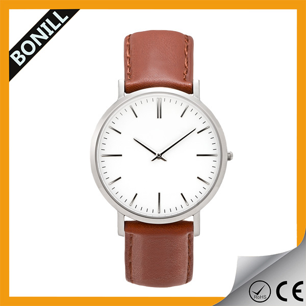 Classic ultra thin watches, super slim watch, stainless steel watch case