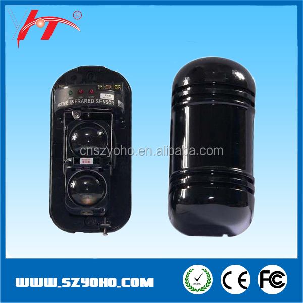 NC/NO alarm output wired Photoelectric Sensor Dual IR Beams Active infrared beams series
