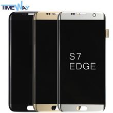 electronics for Samsung s7 edge lcd for Samsung s7 edge touch digitizer phone refurbished lcd display