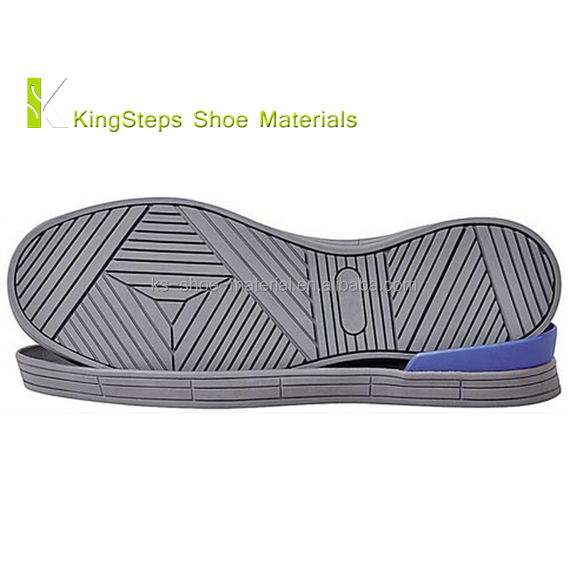 Skateboard shoes outsole pure rubber material made in Jinjiang wear-resistant with heel plastic plate KSMT-13178