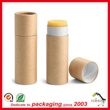 Kraft paper lip blam tube pape tube for lip balm packaging cardboard round lipstick packaging box custom printing