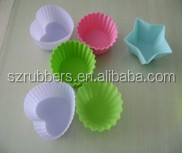 hot sell food grade cheap mini heart shape cupcake silicone cake mould