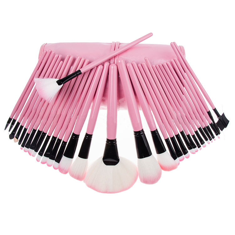 Professional  high quality  pink  cosmetic makeup brushes set 32pcs one pack makeup  tools  free shipping