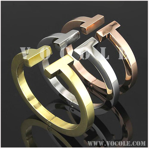 double T collection seamless spring means stainless steel Bangles
