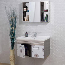 high quality modern style white hanging bathroom vanity unit