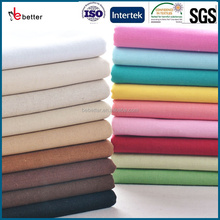 TC polyester cotton fabric 80/20 45*45 96*72 polyester cotton white and dyed fabric