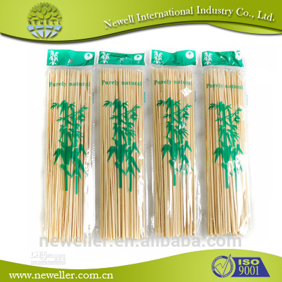 2014 High quality disposable natural bamboo skewer jelly fruit bamboo sticks