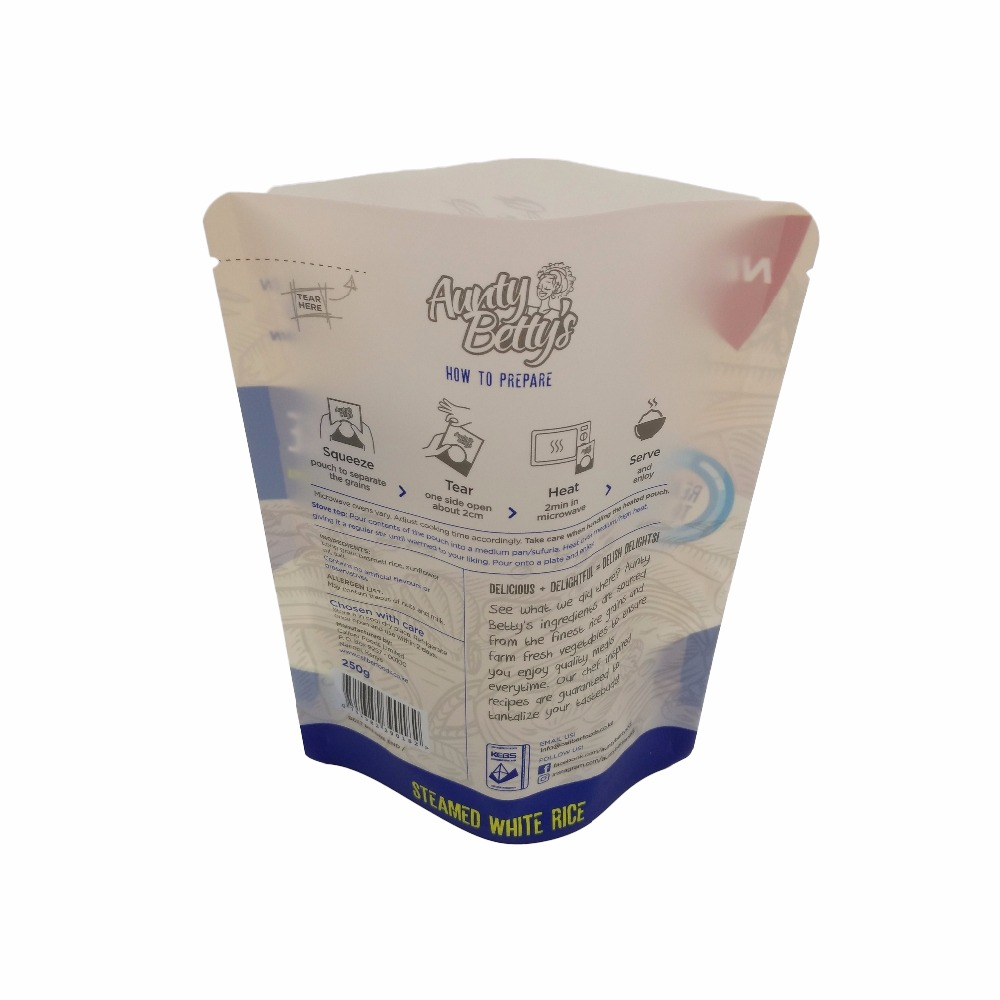 Resealable Window Stand Up Food Packaging Bag For Buck wheat, Wheat, Rice, Millet With Zipper
