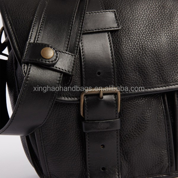 Premium Leather Briefcase Men's Handcrafted Black Briefcase Business Bag
