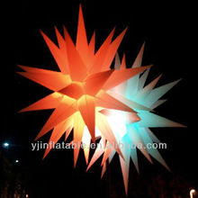 2013 hot best selling new brand beauty colorful inflatable led light star /ceiling star