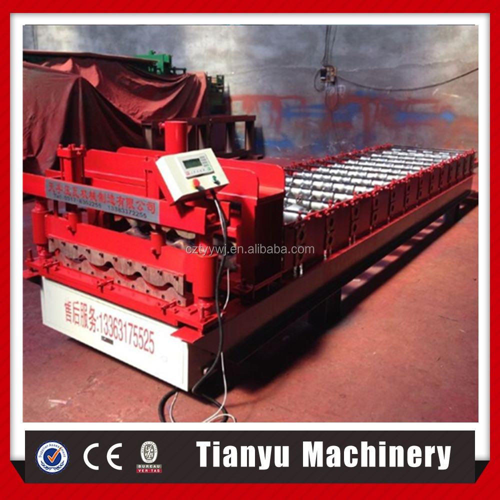 High Quality And Low Price Galvanized Steel Metal Roofing Sheet/Tile/Panel Roll Forming Machine